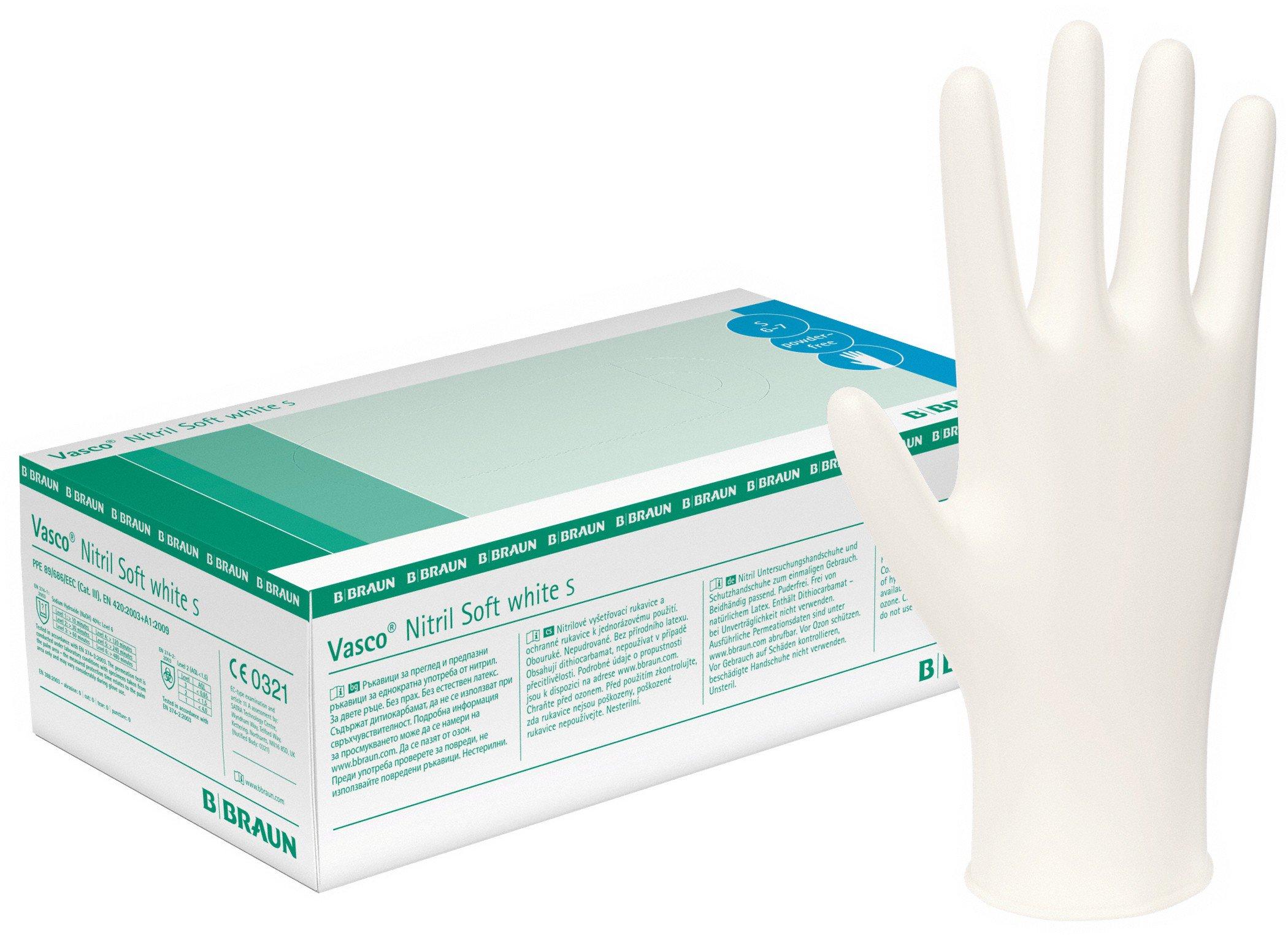 Nitril Vasco Soft white Handschuhe