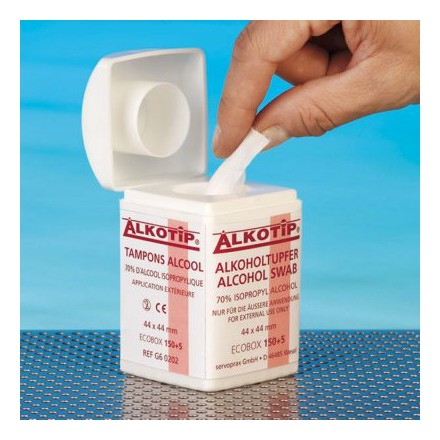 Alkotip® Alkoholtupfer in der Dispenserdose